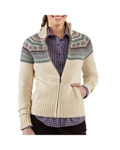Carhartt Women's Folk Pattern Cardigan Sweater  http://www.countryoutfitter.com/products/29946-womens-folk-pattern-cardigan-sweater