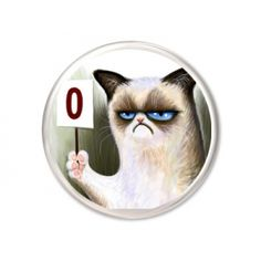 Grumpy Cat Animation 45mm Button Badge £1.99