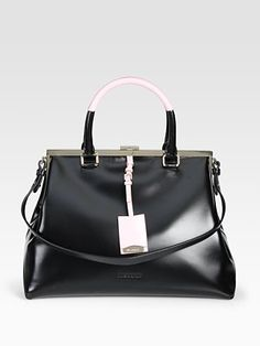 Look of the Day - Jil Sander Sporty Madame Colorblock Bag
