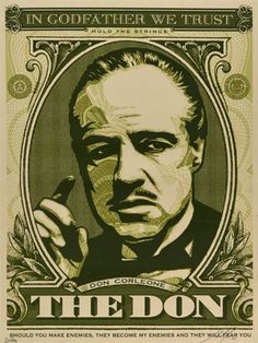 Nuevo imagen del lienzo muro canvas gráficos de imagen el padrino Vito Don Corleone the Godfather