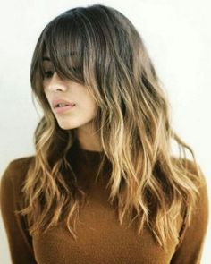 Love Long hairstyles with bangs? wanna give your hair a new look? Long hairstyles with bangs is a good choice for you. Here you will find some super sexy Long hairstyles with bangs, Find the best one for you, Hair Blond, Ombré Hair, Grow Hair, Brunette Bangs, Hair Updo, Bangs Wavy Hair, Cut Bangs, Curly Hairstyle, Brunette Fringe