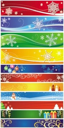 exquisite christmas banner vector