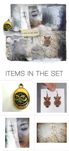 """""""A bird in the hand"""" by annacullart ❤ liked on Polyvore featuring art, contestentry and annacullart"""