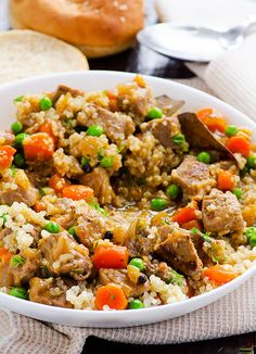 Quinoa Stew with Beef means tender beef, hearty quinoa in this saucy gluten free dinner ready in an hour. Make if craving stew.