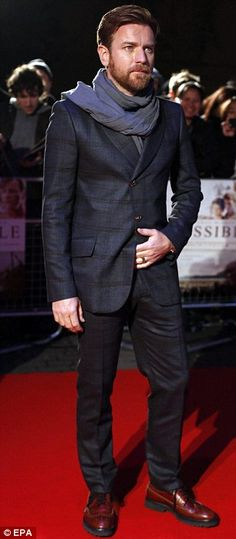 Ewan stayed true to his Scottish roots in a tartan suit