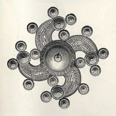 Double Sun-Snake or Swastika; found in Iceland.