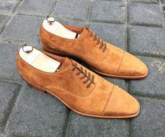 Caulaincourt shoes - Albion - veau velours tabac