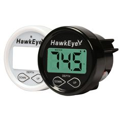 HawkEye In Dash Depth Finder w/Air and Water Temperature - Thru Hull >>> Visit the image link more details.