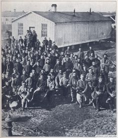 Camp Douglas, Chicago.  Official death toll was 4,454 Confederate prisoners during the course of the war.