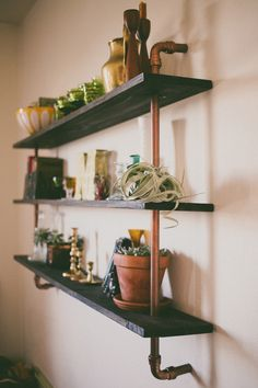copper piping shelf made by my husband