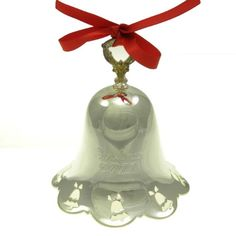2011 Silver-Towle Silversmith Plated Pierced Bell Edition Hanging with the attached red satin ribbon is the edition silver-plated pierced bell. Collect every year or just years that are significant for your family. Red Satin, Decorative Bells, Decorative Accessories, Silver Plate, Plating, Detail, Stuff To Buy, Beautiful, Image Link
