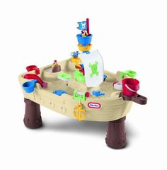 Little Tikes Anchors Away Pirate Ship Water Table Ahoy matey! Get ready for a water-time adventure with the Little Tikes Anchors Away Pirate Ship play table! Little Tikes, Water Table Toy, Sand And Water Table, Water Toys, Water Play, Sand Play, Water Games, Water Activities, Toddler Activities