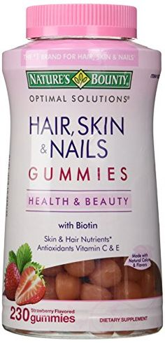 Not only will these daily vitamin gummies help your hair health over time, they'll also give you better skin and nails.