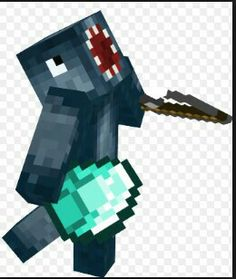 Iballisticsquid in Minecraft with a diamond