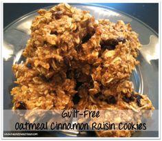 Clean Eat Treat :: Guilt-Free Oatmeal Cinnamon Raisin Cookies #eatclean #cleaneating #heandsheeatclean #recipe #dessert