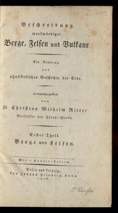 Beschreibung merkwürdiger Berge, Felsen und Vulkane. Rar_3077