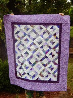 The Fleming's Nine: Purple HSTs - A Leftover Scrap Quilt