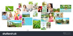 Set Of Colorful Travel Photos Of Nature, People, Landmarks And Touristic Related Destinations Isolated On White Background - 101250400 : Shutterstock