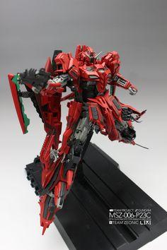 GUNDAM GUY: MG 1/100 MSZ-006-P23C Amazing Red Zeta Gundam - Customized Build