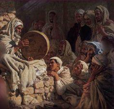 Aveugle chantant la Vie du Saint Prophète sws, par Étienne Dinet (détail)