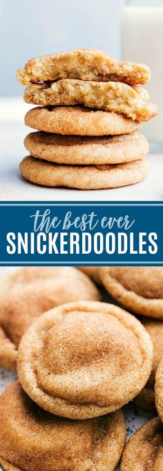 The BEST ever, soft & chewy, thick snickerdoodle cookies. These cookies are always everyone's absolute favorite snickerdoodle! Holiday Cookie Recipes, Easy Cookie Recipes, Holiday Baking, Baking Recipes, Sweet Recipes, Best Holiday Cookies, Simple Cookie Recipe, Healthy Recipes, Best Cookies Ever