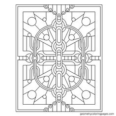 """""""Circuit II"""" from geometrycoloringpages.com"""