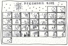 coloring page advent calendar diy at Se7en