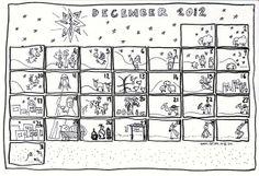 coloring page advent calendar diy at Se7en