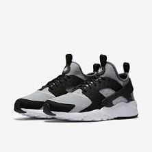 885060cc2fa Nike Air Huarache Run Ultra Sz 13 Black Wolf Grey White Running 819685 010