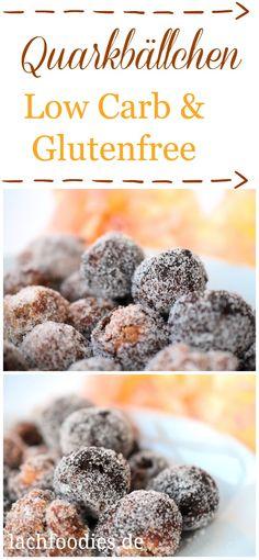 Frische Low Carb Quarkbällchen ohne Zucker. Eine wahrer Genuss für alle, die sich gerne gesund ernähren. Eine gesunde Nachspeise für ein gesundes Dessert.