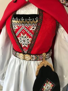 Made by Inger Johanne Wilde Norwegian Clothing, Afghan Dresses, Hardanger Embroidery, Color Shapes, Folk Costume, Star Patterns, Traditional Dresses, Norway, Scandinavian