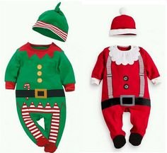 Kiqoo Baby Christmas Clothes Outfits Boy Girl Kids Romper Hat Cap Set Gift for 0-2Y #Affiliate