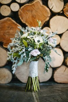 eclectic anemone bouquet, photo by Ann-Kathrin Koch http://ruffledblog.com/english-cotswolds-wedding #flowers #bouquets