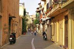 Small streets in Rethymno Crete, Old Town, Old City