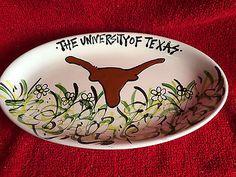 "University of Texas Longhorns  Magnolia Lane Collection - 12"" x 7"" - Oval Plate  683731525044 | eBay"