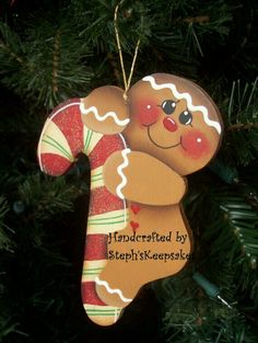Gingerbread with candy cane
