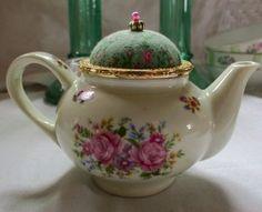 teapot pincushion  i have a crush on you