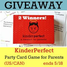 If your parenting friends enjoys a bit of adult fun now and then, I may have the perfect idea for your next gathering. KinderPerfect i...