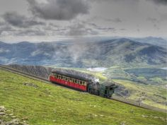 Take a little ride to the top of the highest mountain in Wales ft). Anglesey, Snowdonia, Wales Uk, North Wales, Travel Uk, Train Travel, Places To See, Places Ive Been, Amazing Places