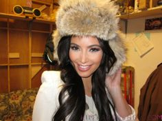 Kim Kardashian in a Fur Hat