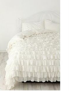 Elegantly Done... Doing It Yourself, Nina's Way: {DIY} Urban Outfitters Inspired Waterfall Ruffle Duvet Cover