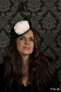 #Cherubina #bridal #headpiece #wedding #tocado #novia # Flor#madrina#boda#invitada# www.anavilloslada.com
