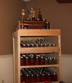 How To Turn An Old Pallet Into A Canning Pantry Cupboard