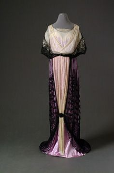 Evening dress, 1910-14, Mode Museum by chrystal