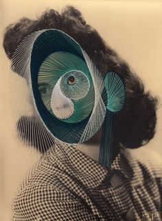 Embroidery Photographs by Maurizio Anzeri. I like the teal better than the pink.
