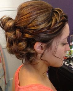 Gorgeous up-do at Ambiance Day Spa and Salon in Claremont.
