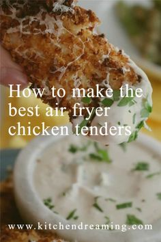 easy air fryer chicken tenders are on the menu tonight! Who needs to go out when I can make restaurant quality food right at home?