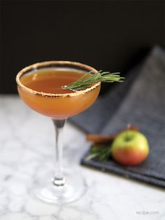 Autumn Dream - to make 1 cocktail, put in a shaker 1/2 oz rosemary and cinnamon syrup (recipe included) - 1/4 oz lemon juice - 1 1/2 oz bourbon - 3 ozs apple cider, shake with ice, serve.