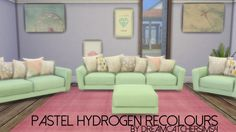 Pastel Hydrogen Living Recolours at DreamCatcherSims4 • Sims 4 Updates