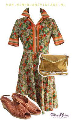 Vintage fashion  Vintage dress Vintage jurk  Www.wimenjansvintage.nl